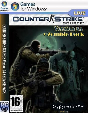 Counter-Strike Source v34 + zombie pack