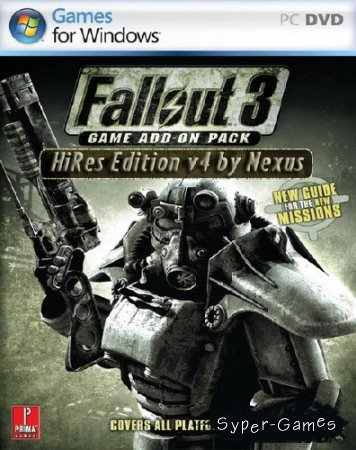 Fallout 3 HiRes Edition v4 (2010/RUS/ENG/ADDON)