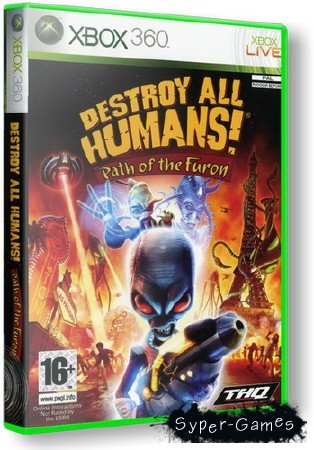 Destroy All Humans! Path of the Furon (2008/RUS/PAL/XBOX360)