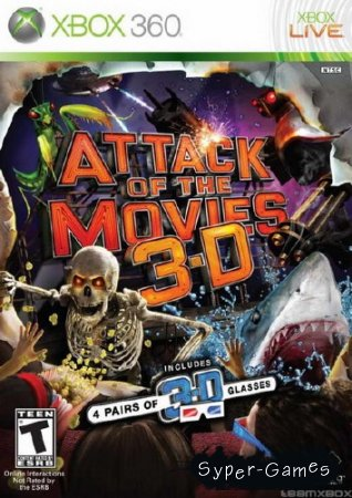 Attack of the Movies 3D (2010/NTSC/ENG/XBOX360)